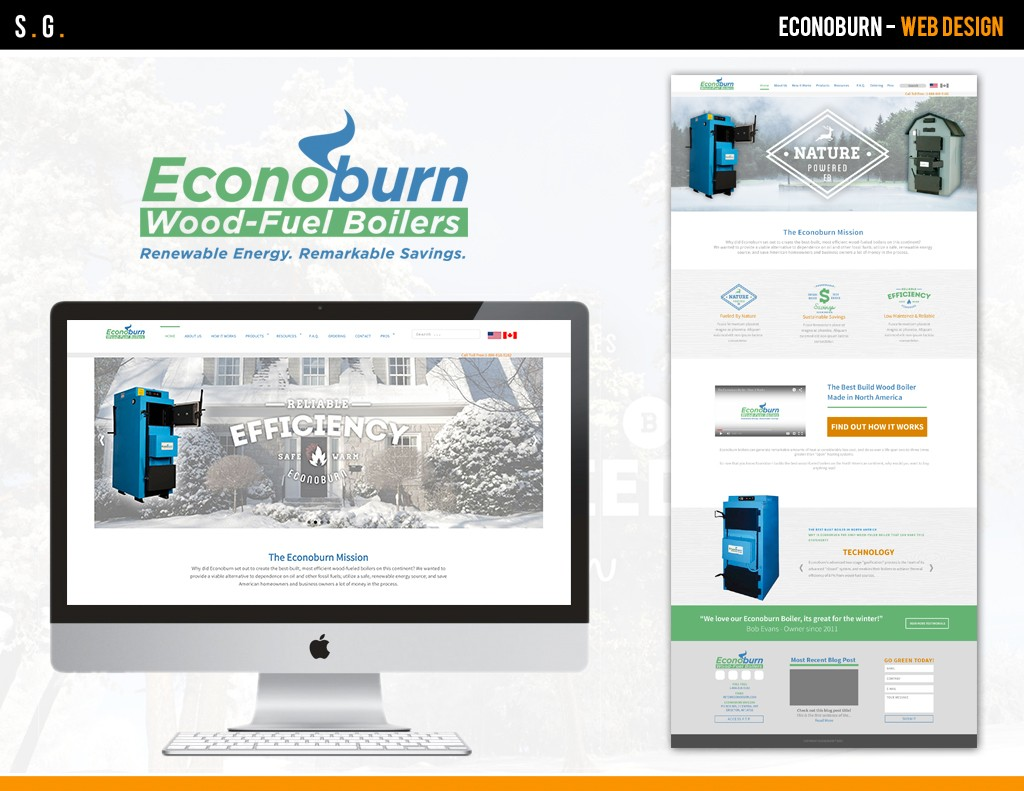 Econoburn Web Design (Created while at New Media Marketing)